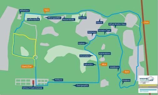 5 km Strecke Tierparklauf